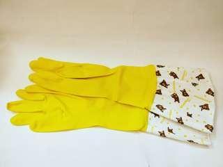 🚚 拉拉熊家事清潔手套(黃色)