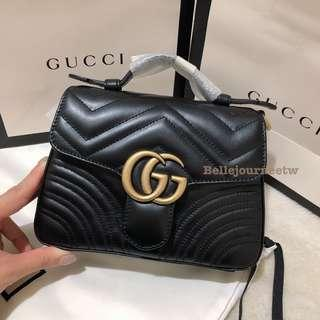 🚚 預購 法國代購🇫🇷 Gucci marmont top handle 小書包