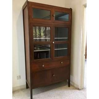 Vintage Tall Glass Cabinet