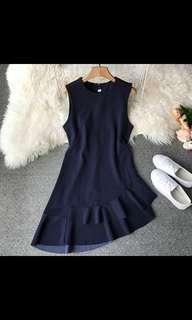 BN Navy Blue Wave Dress