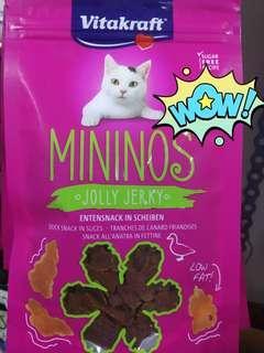 Vitakraft , Mininos, Jolly Jerky , Duck ! Cat treats!