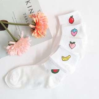 cute ulzzang fruit socks 🍓