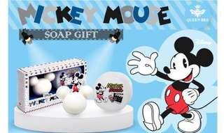 台灣寄出➰Queen Bee~米奇造型香皂旅行組-電影(香皂45g+香皂盒x1)📍此價錢到8/4/2019)