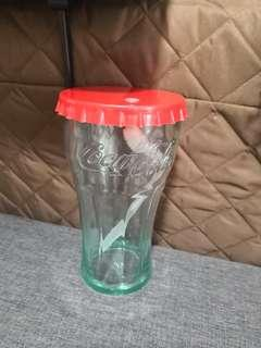 Coca cola cup with straw