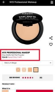 🚚 NYX Stay Matte Not Flat Power