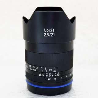 Zeiss 21mm f2.8 Loxia for SONY E mount with box packaging