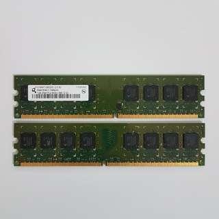 1GB DDR2 Desktop DIMM RAM