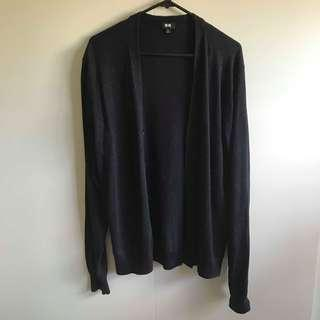 Uniqlo Navy Blue Cardigan (Size L)