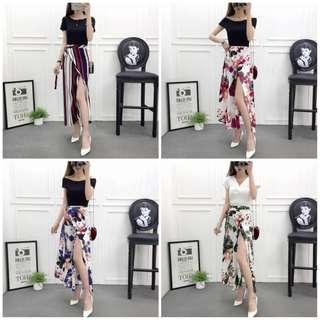 Flowy Maxi Floral Casual Skirt
