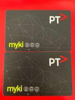 Melbourne Myki Card x2
