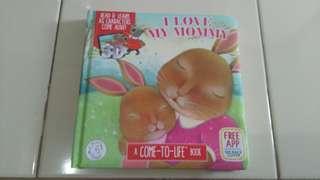Buku ajaib augmented reality 'i love my mommy'