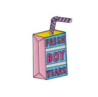 🚚 Cute Fresh Boy Tears Enamel Pin/Brooch
