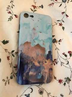藍金色油畫風iPhone 6/7 Case