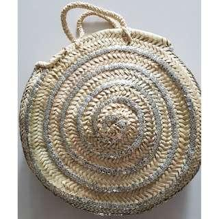 silver sequin beach basket (New)