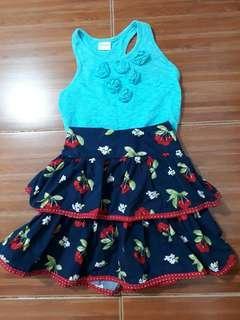 8-10 girls Gymboree skirt and blue tank top