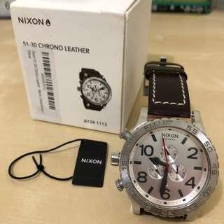 NIXON 尼克森 51-30 CHRONO LEATHER 手錶