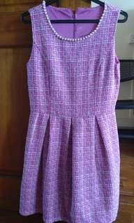 🚚 L&B pink tweed dress #dressforsuccess30