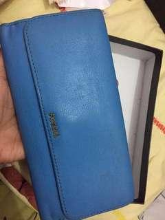 Fossil blue wallet