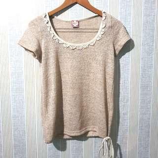 Brown Knit Top