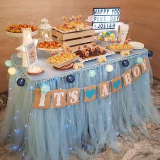 Dessert Table - Blue Color Themed