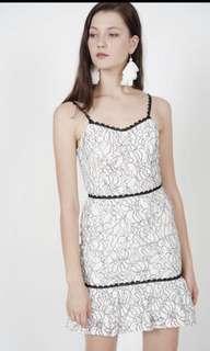 🚚 MDS sweet lace midi dress