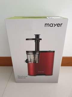 🚚 BNIB Mayer Slow Juicer MMSJ130
