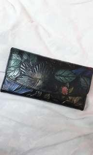 Floral Real Leather Women's Wallet Purse