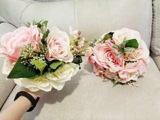 新娘/伴娘/姊妹—花球/手捧花,兩個$120
