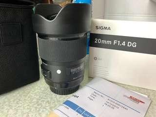 Sigma 20mm F1.4 for canon