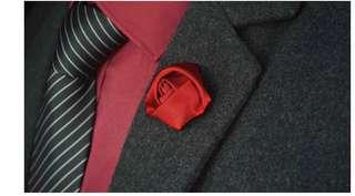 Rose Style Brooch for Suit 精致男士西裝玫瑰花胸針裝飾玫瑰花西裝胸針