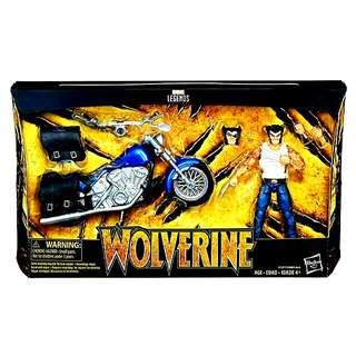 MISB Marvel Legends Wolverine With Motorcycle Rider Series Action Figure