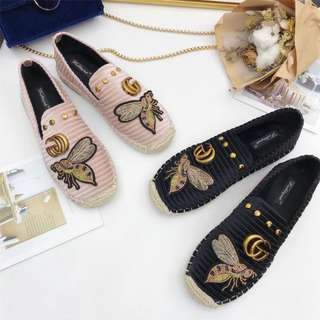 1e6172e30e9 Gucci Embroidered Slip-on (2 colours available)