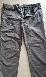Mark and Spencer Cotton pants grey fit size 40 length 29