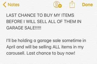 LAST CHANCE TO BUY NOW