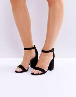 New Look Barely There Blocked Heeled Sandal
