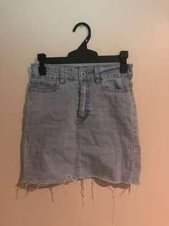 Size 6 light blue denim skirt