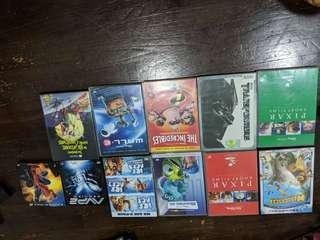 🚚 Dvds madagascar pixar short films monster inc the incredibles wall e avp2 spiderman 3 Tim Burton nightmare before Christmas animation show kids original authentic copies