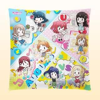 AQOURS at the ARCADE Giant Cushion! With Exclusive Artwork