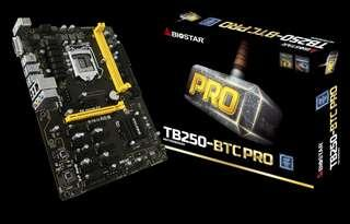 Biostar B250 BTC Pro LGA1151 Motherboard