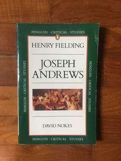 David Nokes - Henry Fielding: Joseph Andrews (Penguin Critical Studies, 1987)