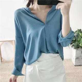 Plain shirt.