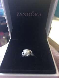 PANDORA Pearl and CZ ring
