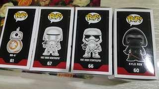 Funko Pop Star Wars set of 4