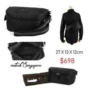 511515969 READY STOCK -AUTHENTIC - NEW Gucci 449182 bum bag UNISEX signature fanny  pack canvas belt