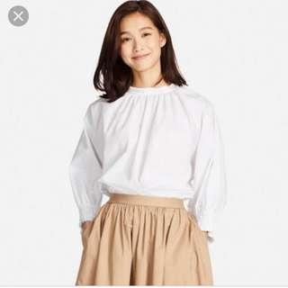 Uniqlo White Cotton Top