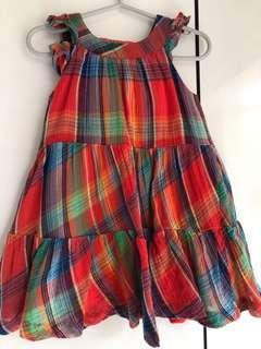 🚚 Ralph Lauren Checkered Dress w' Bloomer
