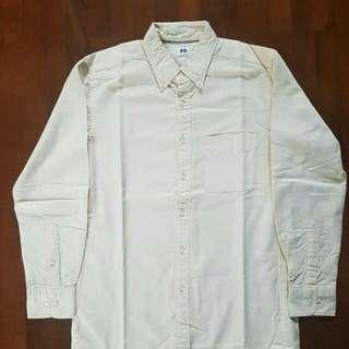 UNIQLO OXFORD jasmine white Shirt