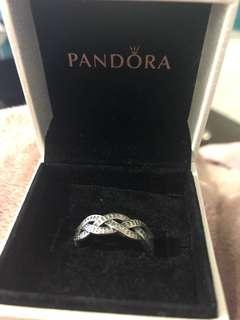 PANDORA Weave ring with CZ