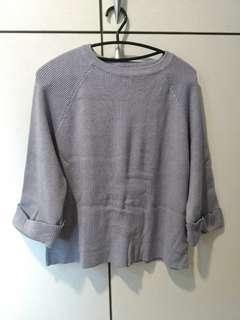 🚚 灰色彈性毛衣