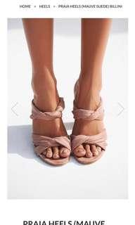 Praia mauve heels